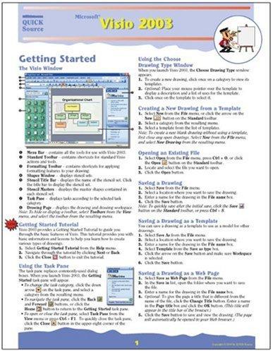 9781932104219: Microsoft Visio 2003 Quick Source Guide
