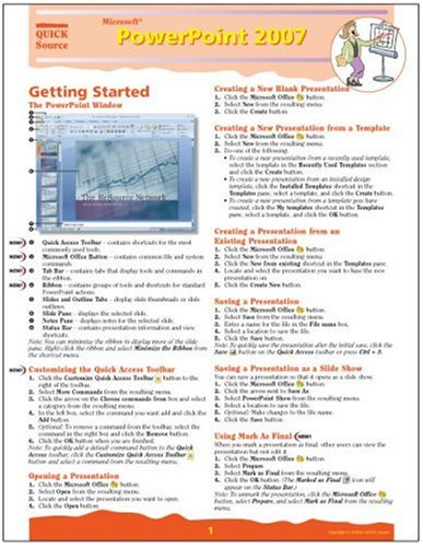 9781932104561: Microsoft PowerPoint 2007 Quick Source Reference Guide