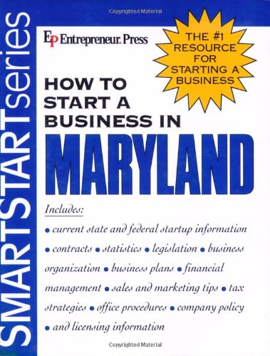 9781932156423: How to Start a Business in Maryland (How to Start a Business in Maryland (Etrm))