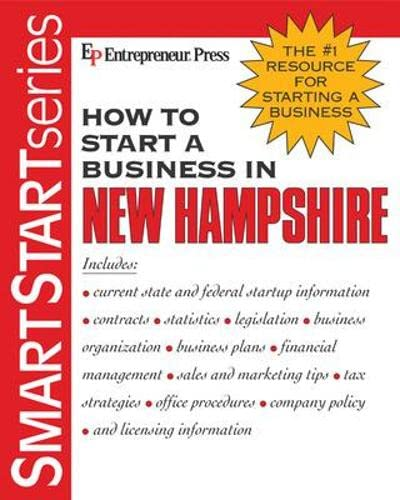 How to Start a Business in New Hampshire: Entrepreneur Press