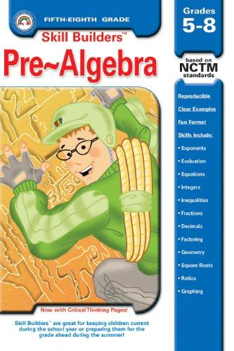 9781932210095: Pre-Algebra, Grades 5-8 (Skill Builders Series)