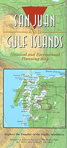 9781932310092: San Juan Island & Gulf Islands Nautical Recreational Map - Laminated