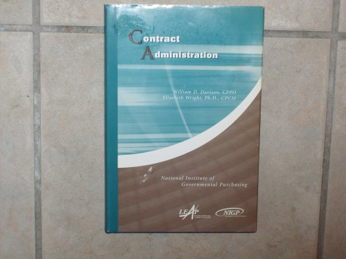 9781932315059: Contract Administration