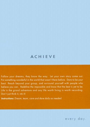 9781932319309: Achieve: Every Day (Every Day Journals)