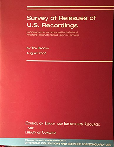 Survey of Reissues of U.S. Recordings: Tim Brooks