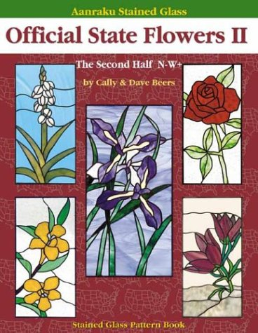 9781932335118: Aanraku Stained Glass Pattern Book Official State Flowers 2
