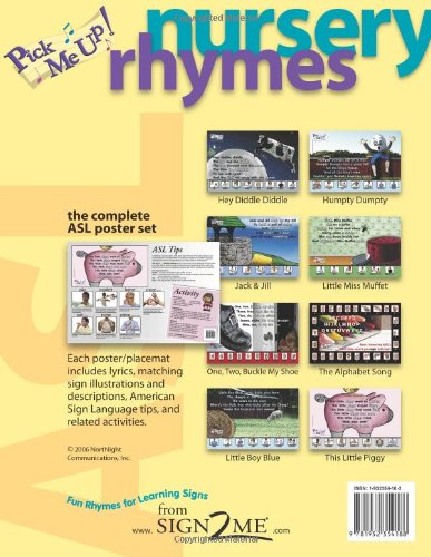 9781932354188: Pick Me Up! ASL Nursery Rhyme Posters - with American Sign Language - 8 Poster Set