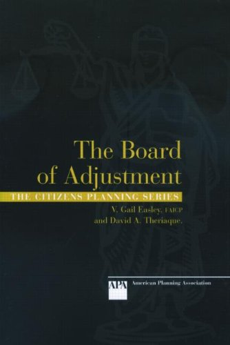 9781932364026: Board of Adjustment (Citizens Planning)
