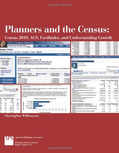 Planners and the Census: Census 2010, Acs, Factfinder, and Understanding Growth (Paperback): ...