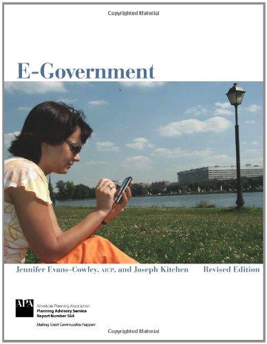 E-Government: Jennifer Evans-Cowley, Joseph