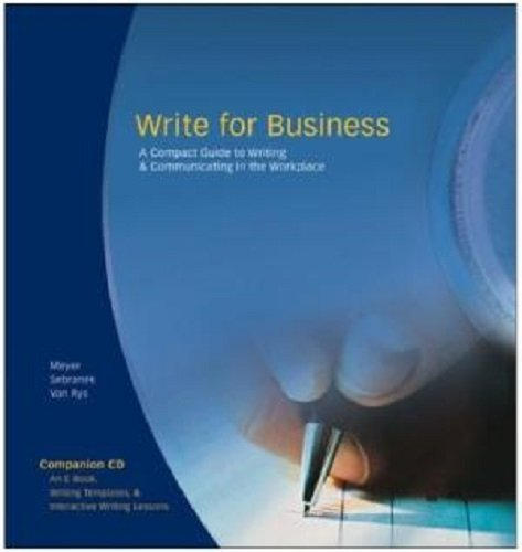 9781932436006: Write Source: Write for Business Book and CD-ROM Package 2005