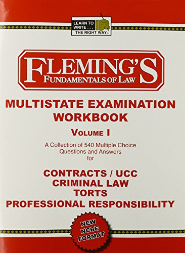9781932440836: Mbe Exam Wrkbk (Contracts,Ucc,Criminal Law,Torts,Professional Responsibility)