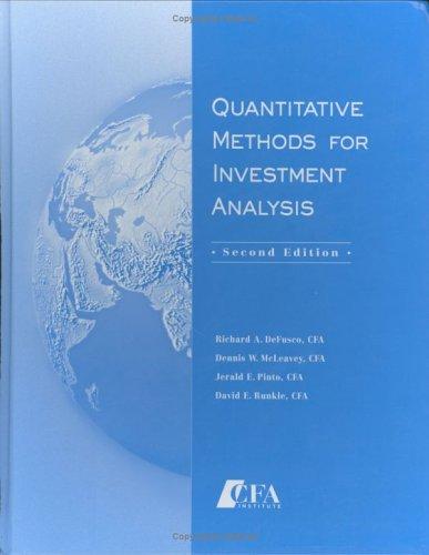 9781932495089: Quantitative Methods For Investment Analysis