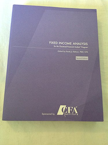 9781932495386: Fixed Income Analysis for the Chartered Financial Analyst Program