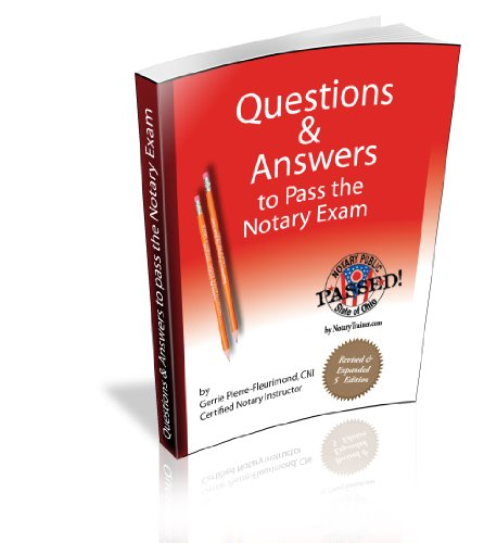 9781932518351: Questions and Answers to Pass the Notary Exam: Ohio