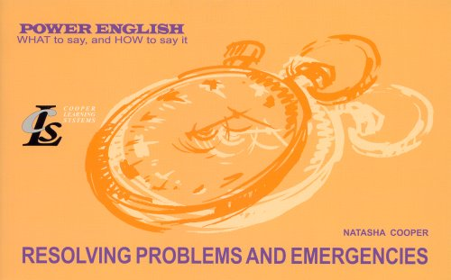 Resolving Problems and Emergencies: Natasha Cooper