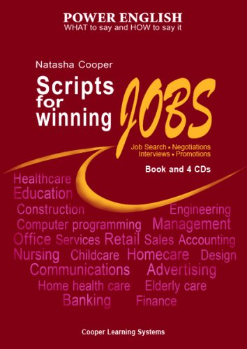 9781932521481: Scripts for Winning Jobs.: Book and 4 CDs. Power English Series.