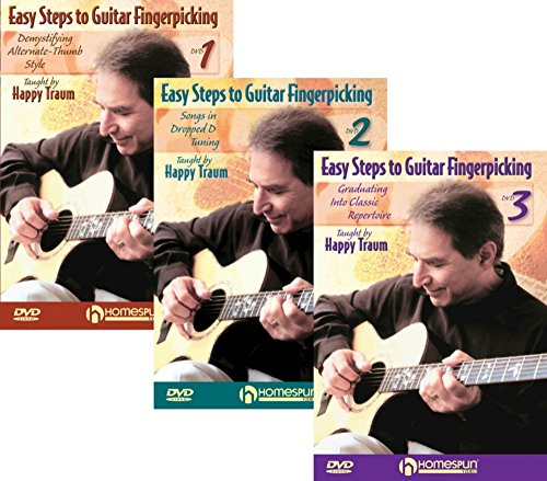 Homespun Easy Steps To Guitar Fingerpicking 1,2&3 (DVD) (9781932537383) by Homespun