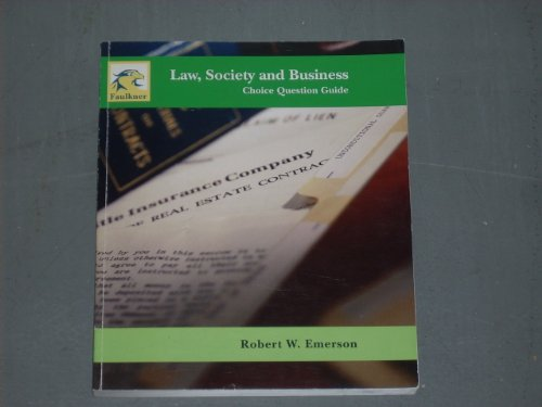 9781932602982: Law, Society and Business: Choice Question Guide