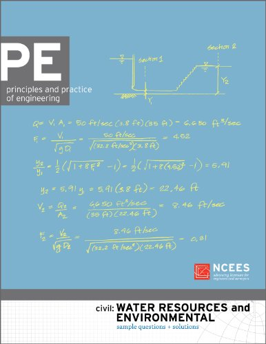 PE Civil: Water Resources and Environmental Sample Questions and Solutions: NCEES