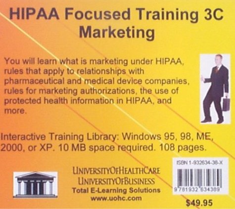HIPAA Focused Training 3C Marketing (No. 3C): Farb, Daniel