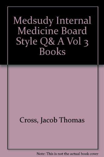 9781932703023: MedStudy Internal Medicine Board Style Q&A Vol 3 Books