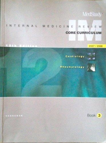 9781932703139: Medical Study Internal Medicine Review: Core Curriculum 2007/2008