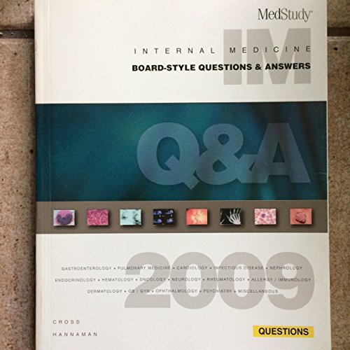 9781932703320: Medstudy 2009 Internal Medicine Board-Style Questions & Answers Books Pkg