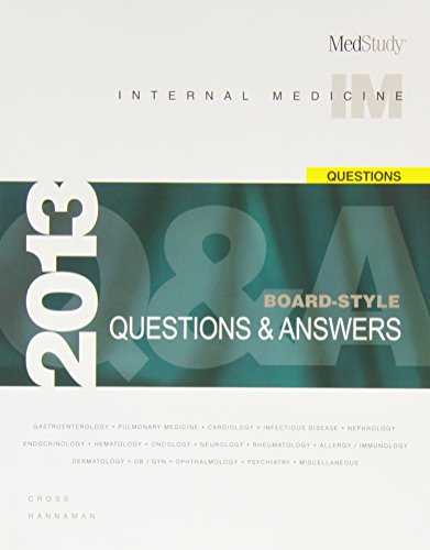 9781932703641: MedStudy Internal Medicine Board-Style Questions & Answers Package