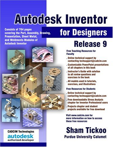 9781932709063: Autodesk Inventor for Designers Release 9