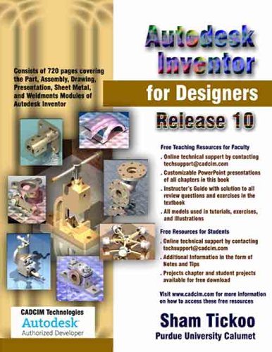 9781932709094: Autodesk Inventor for Designers, Release 10