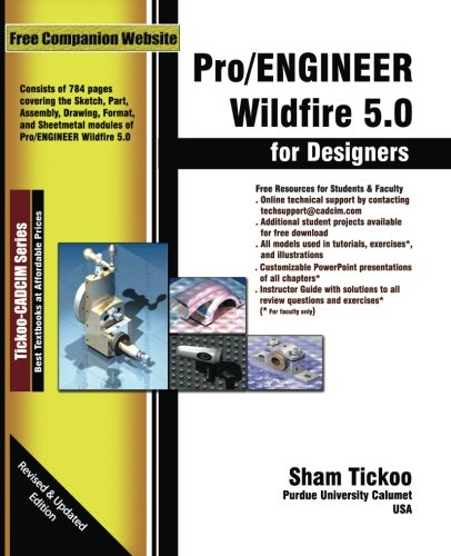9781932709803: Pro/ENGINEER Wildfire 5.0 for Designers Textbook