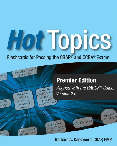9781932735604: Hot Topics CBAP and CCBA Exam Flashcards for Business Analysis Certification
