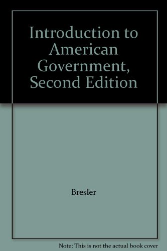 9781932741094: Introduction to American Government, Second Edition
