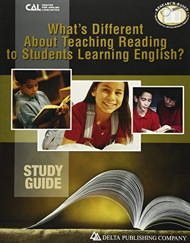 What's Different about Teaching Reading to Students: Dorothy Kauffman Ph.D.