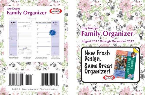 9781932751642: Amy Knapp's Family Organizer August 2011 Through December 2012 Calendar