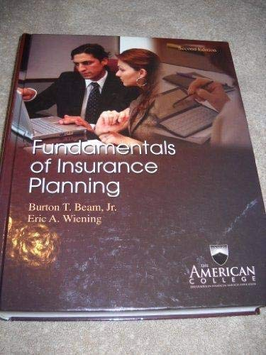 9781932819403: Fundamentals of Insurance Planning