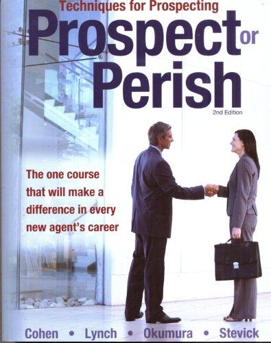 9781932819816: Techniques for Prospecting : Prospect or Perish