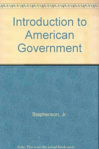 9781932856019: Introduction to American Government