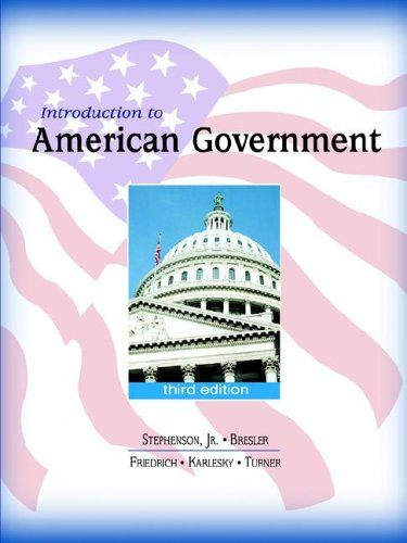 Introduction to American Government: D. Grier Stephenson,
