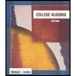 College Algebra: Michael Levitan; Bernard