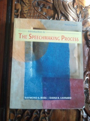 Title: INTRODUCTION TO SPEECH MAKING: Ross, Raymond S.;