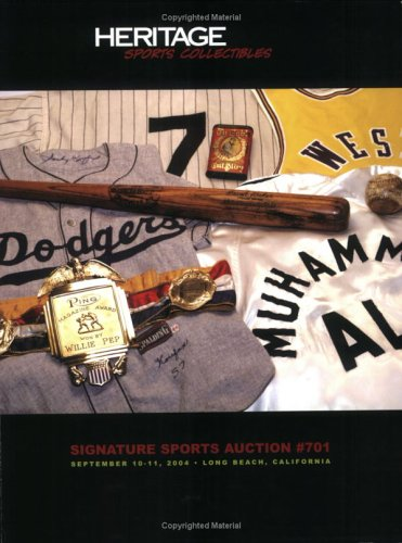 9781932899214: Heritage Sports Collectibles Signature Sports Auction #701