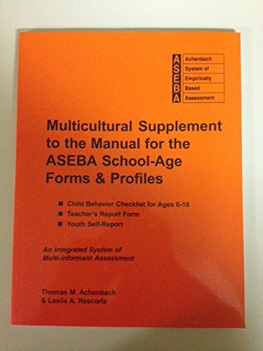 9781932975093: Multicultural Supplement to the Manual for the Aseba School-Age Forms & Profiles: Child Behavior Checklist for Ages 6-18, Teacher's Report Form, Youth
