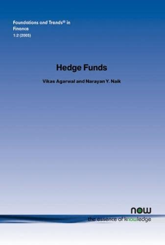 9781933019178: Hedge Funds (Foundations and Trends(r) in Finance)