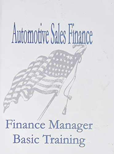 9781933039077: Automotive Finance Manager Basic Training