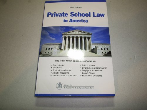 9781933043401: Private School Law in America