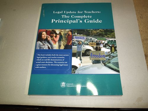9781933043432: Legal Update for Teachers: The Complete Principal's Guide