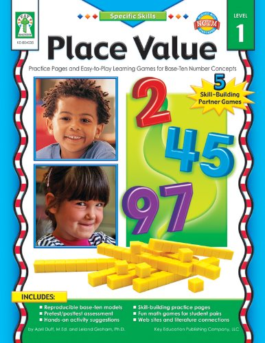 9781933052502: Place Value, Grades K - 3: Practice Pages and Easy-To-Play Learning Games for Base-Ten Number Concepts