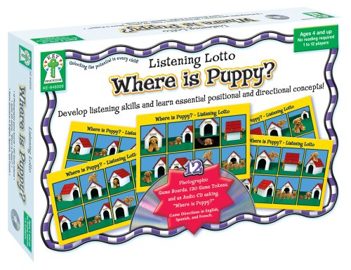 Listening Lotto: Where is Puppy?: Develop listening skills and learn essential positional and ...